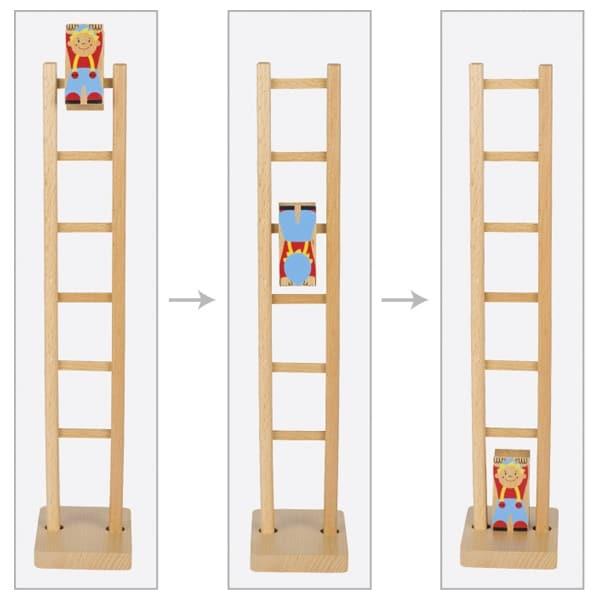 klaun na rebríku